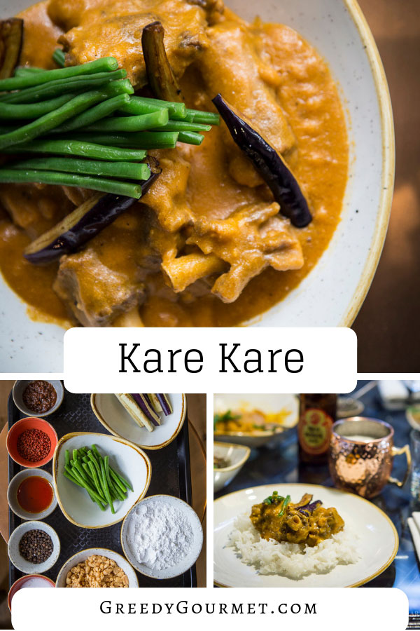 A plate of kare kare