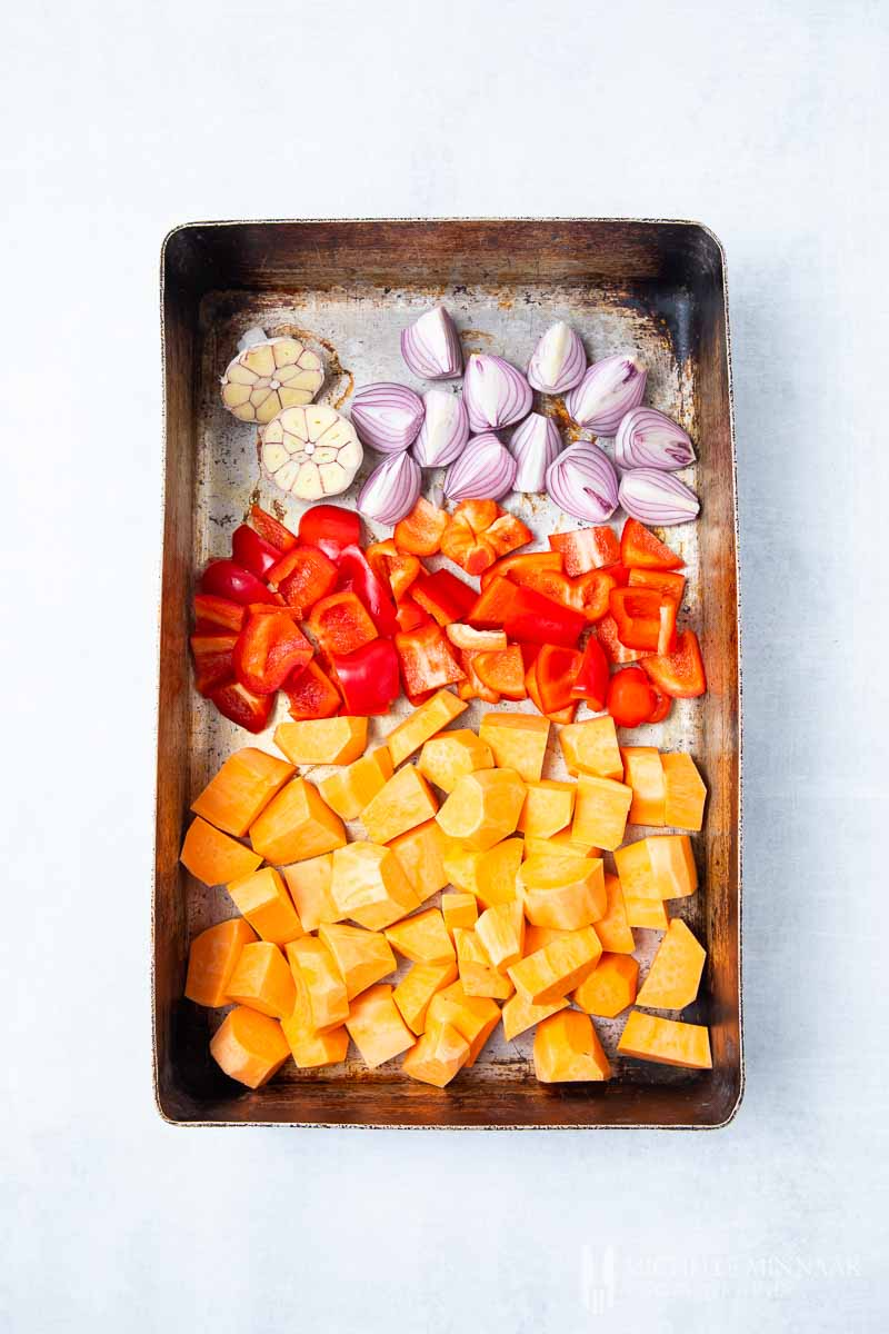 Vegetables in a Baking Tray