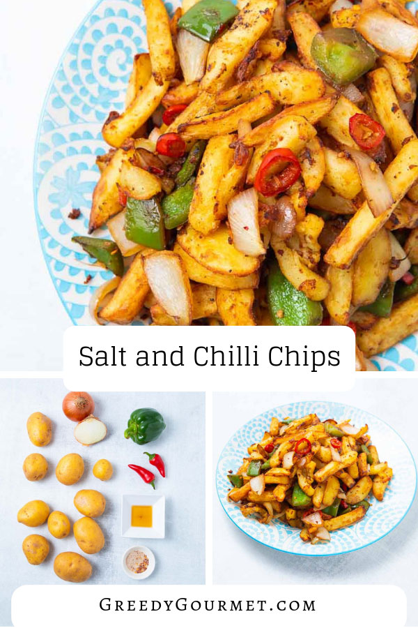 Your wallet will never have to suffer on expensive Chinese takeaways if you learn how to make these salt and chili chips. They are finger-licking awesome!