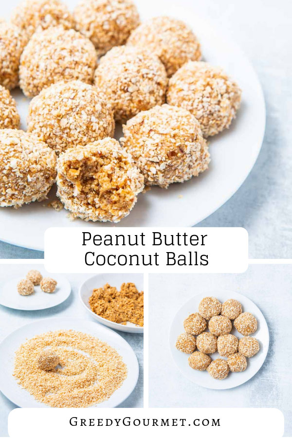 These peanut butter coconut balls are just what you need to make you last the day. These protein and energy balls call for oats, peanut butter and coconut.